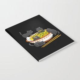 Kawaii Anime Cat Japanese Ramen Noodles Notebook