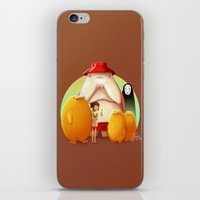 studio ghibli iPhone & iPod Skins featuring Studio Ghibli - Radish Spirit by Laurence Andrew Page Illustrator