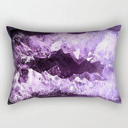 Amethyst Crystal Cave Rectangular Pillow