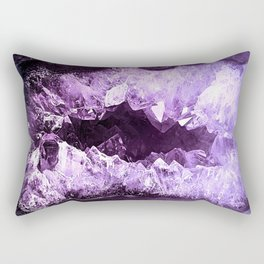 Amethyst Crystal Cave Rectangular Pillow