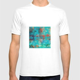 Aztec Turquoise Stone Abstract Texture Design Art T-shirt