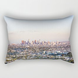 Los Angeles Skyline Rectangular Pillow