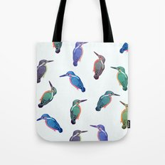 Colored kingfishers Tote Bag