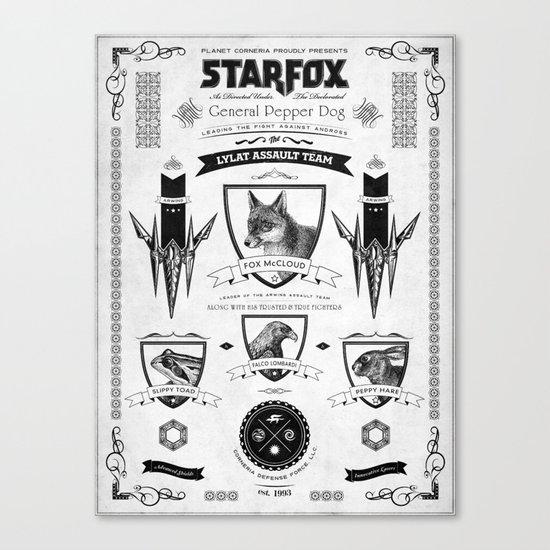 Star Fox Vintage Poster Geek Line Artly Canvas Print
