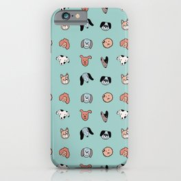 Cute dogs pattern iPhone Case