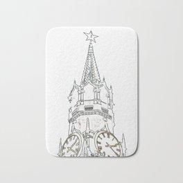 Kremlin Chimes- white Bath Mat