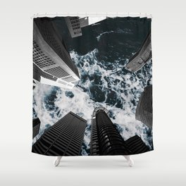 Sky is Rough Shower Curtain