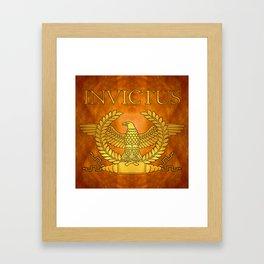 Invictus Golden Eagle on Copper Framed Art Print