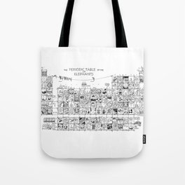 Periodic Table of the Elephants Tote Bag