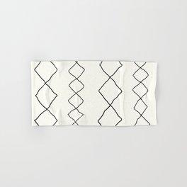 Moroccan Diamond Stripe in Black and White Hand & Bath Towel