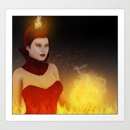 Contessa of the flame Art Print