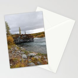 River of ural mountains. Sub-polar Ural. Stationery Cards