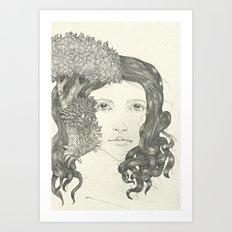 Graphite Trees Art Print
