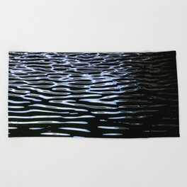 Reflection in Dark Water Beach Towel