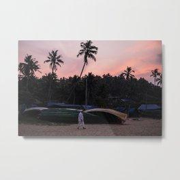 the fisherman at sunrise Metal Print