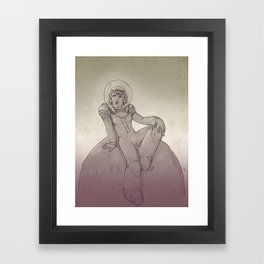 Space Gal Framed Art Print
