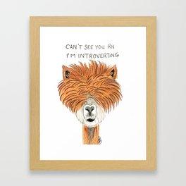 Introvert llama Framed Art Print
