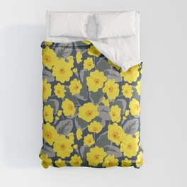 Blooming yellow primrose Comforters