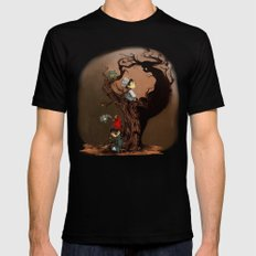 Over The Garden Wall- Wirt, Greg, Beatrice, and The Beast Mens Fitted Tee Black LARGE