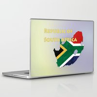 south africa Laptop & iPad Skins featuring Republic of South Africa by Dandy Octopus