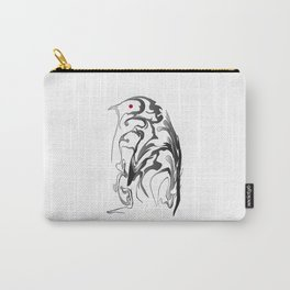Penguin pigeon 1. Black on white background. Carry-All Pouch