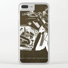 2011 HD VRSCF V-Rod Muscle marron blueprint Clear iPhone Case