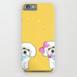 Bichon Frise Holidays yellow cute dogs, Christmas gift, holiday gift, birthday gift, dog, Bijon iPhone Case