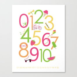 Counting / Numbers for Girls Canvas Print