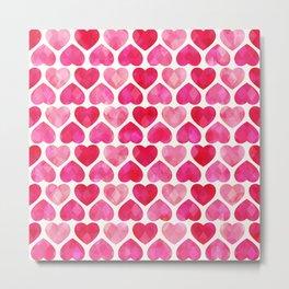 RUBY HEARTS Metal Print