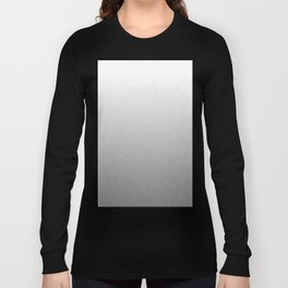 White to gray ombre flames Long Sleeve T-shirt