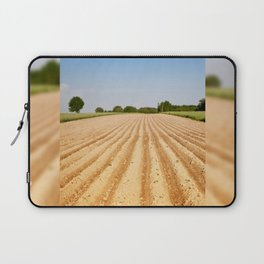 Ploughed agriculture field empty Laptop Sleeve