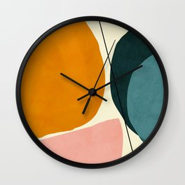shapes geometric minimal painting abstract Wall Clock