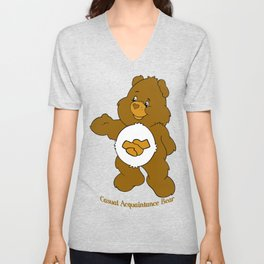 Casual Acquaintance Bear Unisex V-Neck