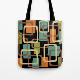Mid Century Modern Overlapping Squares Pattern 131 Tote Bag