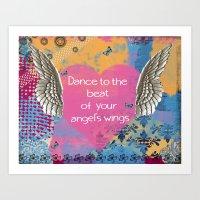angel wings Art Prints featuring Angel Wings by Brooke LeAnne