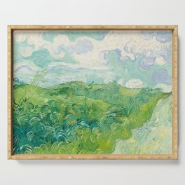 Vincent van Gogh Green Wheat Fields, Auvers 1890 Painting Serving Tray