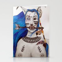 kenzo Stationery Cards featuring Blue haired Warrior by  Shereen Annalise x Kenzo Tenma