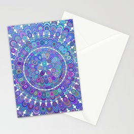 Colorful Happy Floral Mandala Stationery Cards