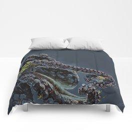"""Release the Kraken"" - Giant Octopus Digital Illustration Comforters"