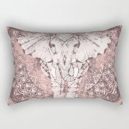 Bohemian, Elephant, Mandala, Blush, Moon Rectangular Pillow