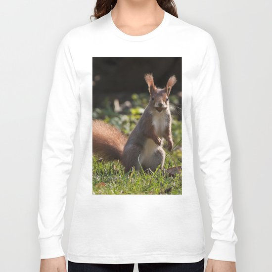 Do you have a nut - Cute squirrel animal on #Society6 Long Sleeve T-shirt