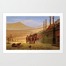 """Jean-Léon Gérôme """"Ave Caesar Morituri te Salutant"""" Art Print"""