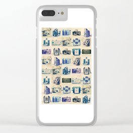 Vintage Camera Collection Clear iPhone Case