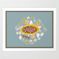 Dinner Table Wake Art Print