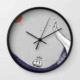 Man vs. Sea Wall Clock