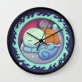 Hidden in the Water // Cute Sleepy Turtle, Kanto Starter, Kawaii Wall Clock
