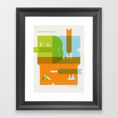 A Tiny Man's Guide To The Universe Framed Art Print