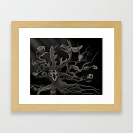and blind Oblivion swallowed cities up Framed Art Print