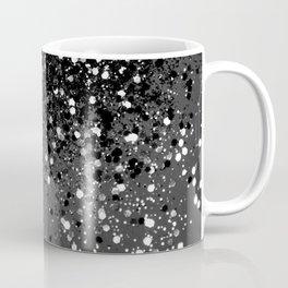 Dark Gray Black Lady Glitter #1 #shiny #decor #art #society6 Coffee Mug