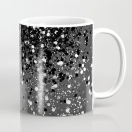 Dark Gray Black Lady Glitter #1 #shiny #decor #art #society6 Coffee Mug